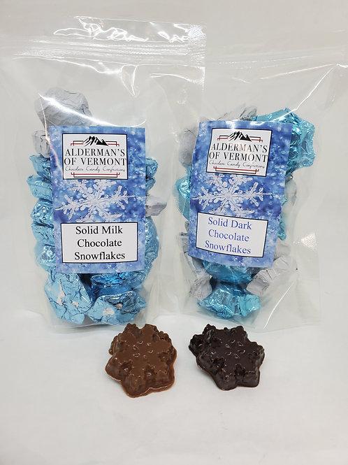 Milk or Dark Chocolate Wrapped Snowflakes