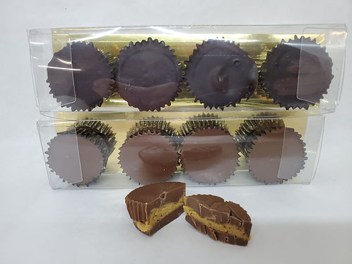 Milk or Dark Chocolate  Peanut Butter Cup 4 Pack