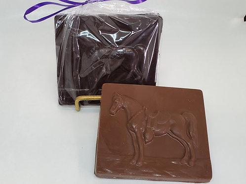 Milk or Dark Chocolate Horse Plaque