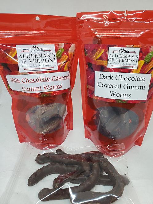 Milk or Dark Chocolate Gummi Worms