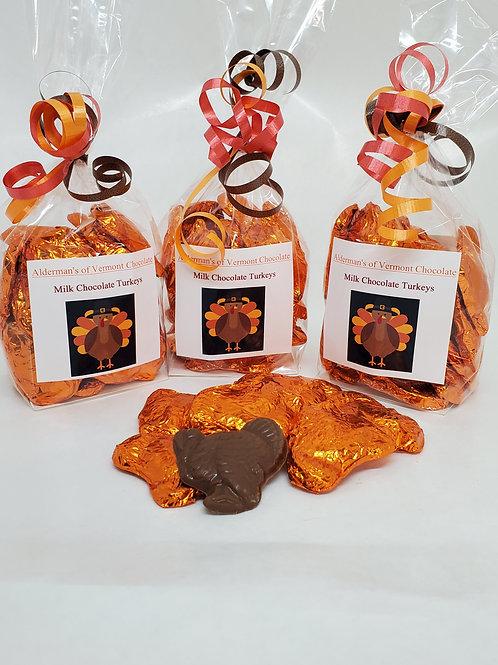 Milk or Dark Chocolate Thanksgiving Turkey Bite Size Bags