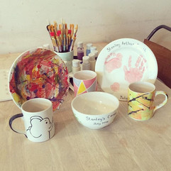 Pop up ceramic painting from Creative Biscuit