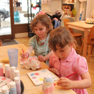 Pottery painting for kids at Creative Biscuit