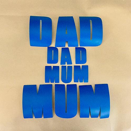Ceramic Stickers - Mum and Dad