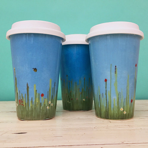 Meadow Ceramic Travel Mug