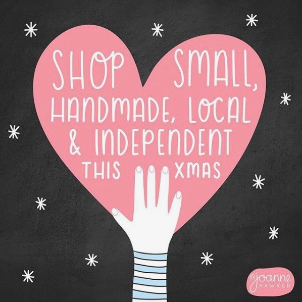 Shop Small illustration by Joanne Hawker