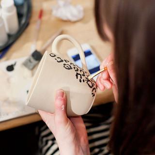 Pottery painting at Creative Bisucit Ceramics Cafe