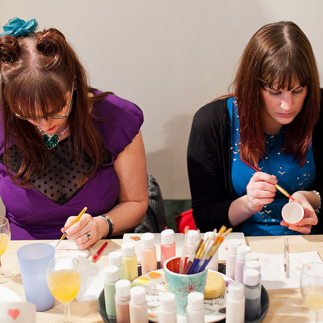 Ceramic Painting Parties at Creative Biscuit