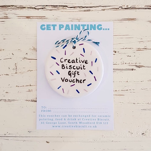 Ceramic Painting Gift Voucher