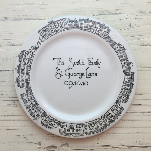 Personalised Ceramic New Home Plate