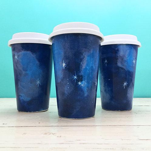 Galaxy Ceramic Travel Mug