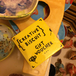 Gift Vouchers for pottery painting at Creative Bisucit Ceramics Cafe
