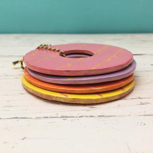 Ceramic Biscuit Coasters