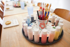 Pottery painting parties at Creative Biscuit, London
