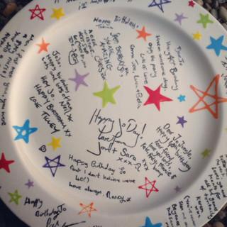 Custom ceramic signer plate at Creative Biscuit