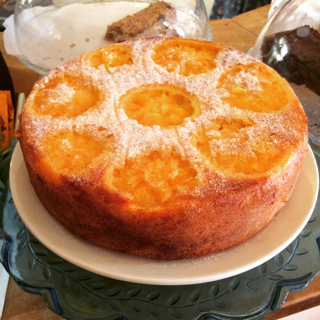 Gluten free orange cake at Creative Bisucit Ceramics Cafe