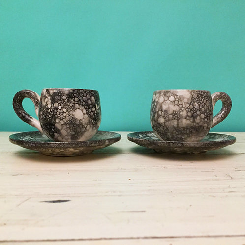 Bubble Print Espresso Cups