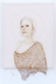 painting, portrait, silk, fine art