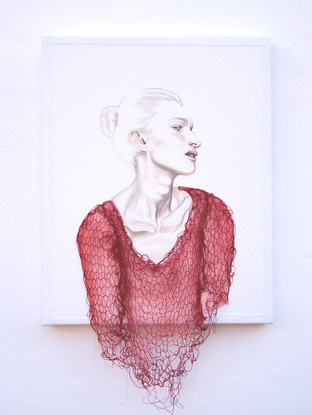 UNTITLED (knitted in red)