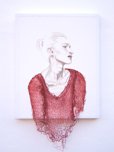 knitted in red
