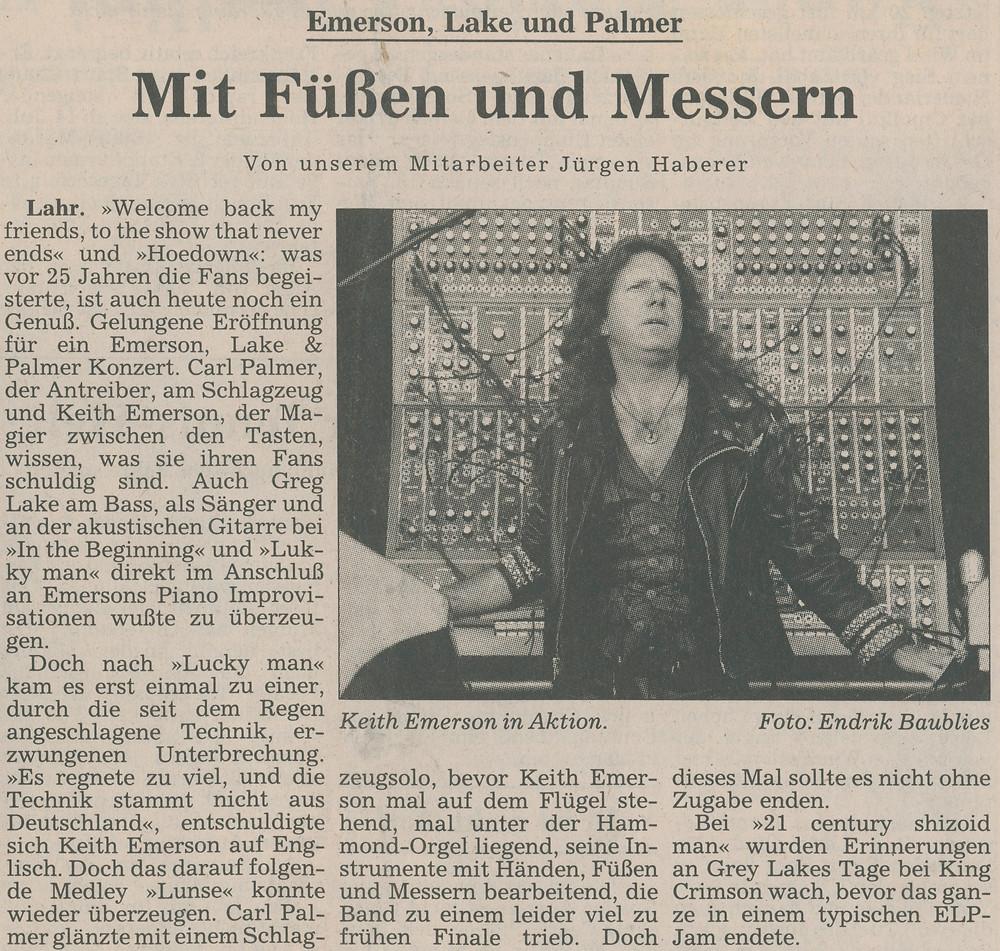 Heart And Soul - Zeitungsartikel