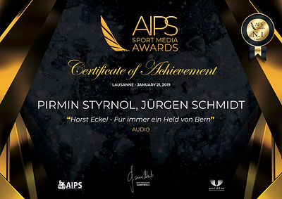 AIPS Award Pirmin Styrnol