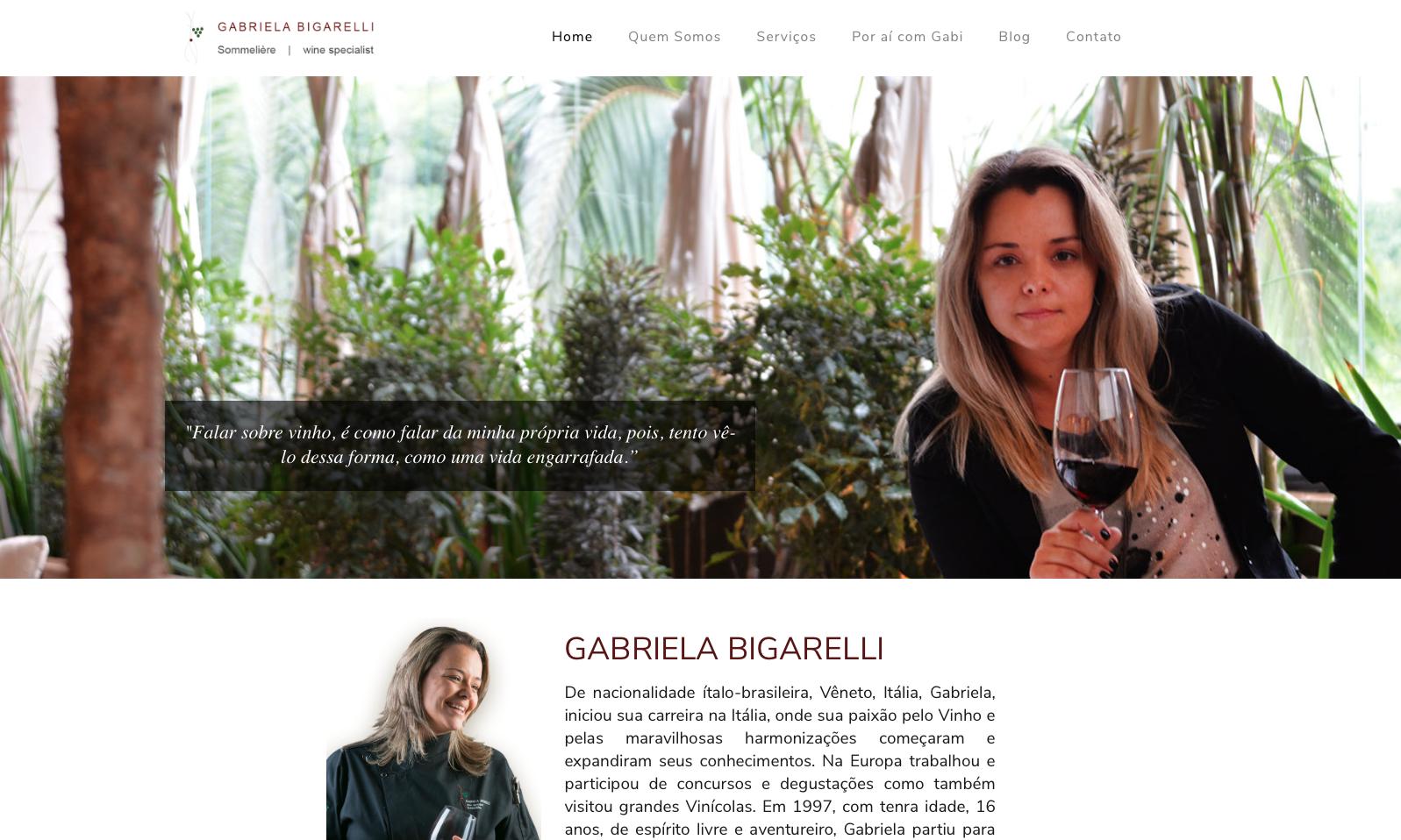 Gabriela Bigarelli - Sommelier