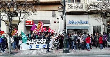 CONCENTRACION PSOE ZARAGOZA