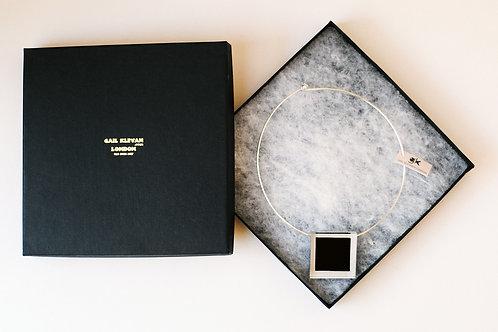 Black Square Pendant
