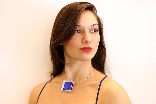 Blue Square Pendant