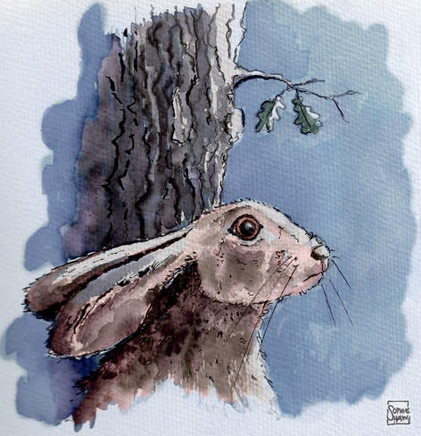 Hare Saw Faces Out In The Darkness