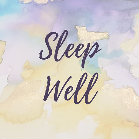 abstract watercolour painting by sophie shaw with the words sleep well