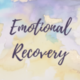abstract watercolour painting by sophie shaw with the words emotional recovery