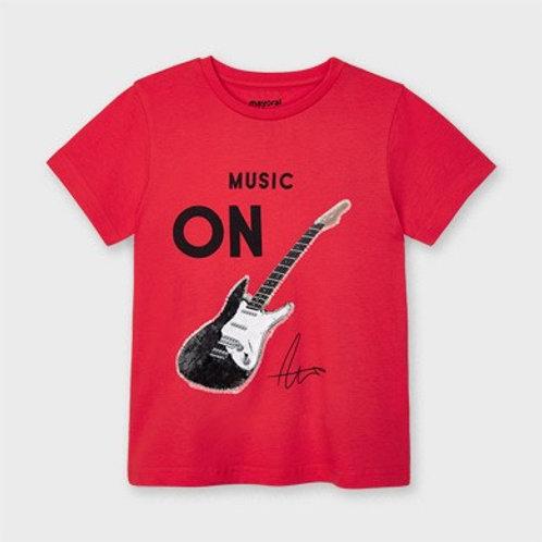 T-shirt manche courte guitare paillettes garçon mayoral