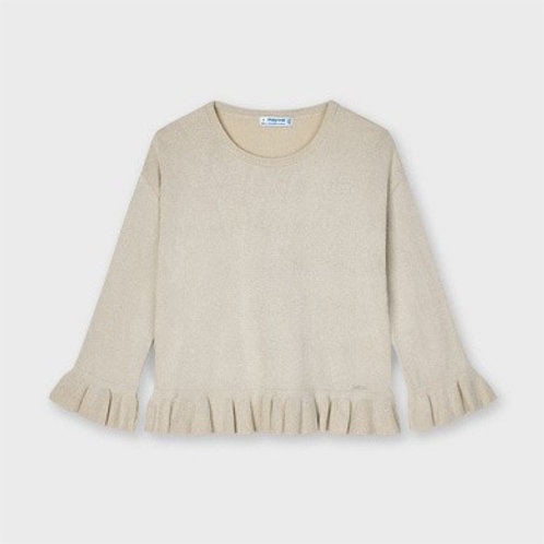 Pull Ecofriends volants fille mayoral