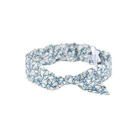 Bandeau bleu imprimé Liberty fleuri absorba
