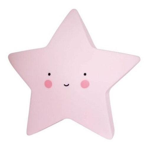Petite veilleuse étoile rose A LITTLE LOVELY COMPANY