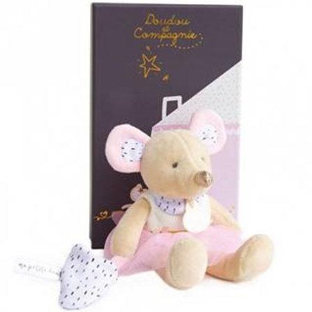 Peluche Suzie en tutu 19cm La petite souris va passer Doudou et compagnie
