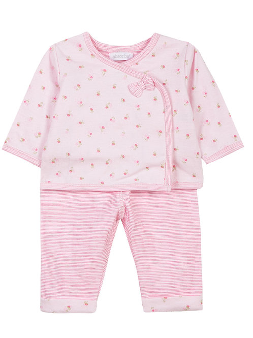 Ensemble pyjama haut et bas rose