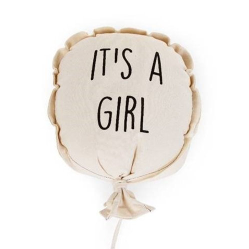 Ballon toile - IT'S A GIRL - décoration murale