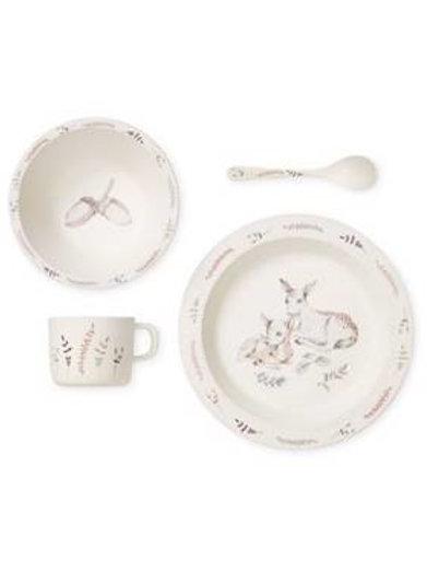 """Set de vaisselle Premier Repas """"La forêt"""" en bambou de Camcam"""