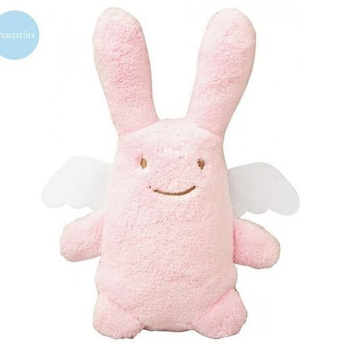 Ange lapin rose musical nid d'ange TROUSSELIER