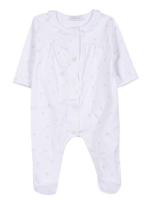 Pyjama blanc avec petits motifs roses