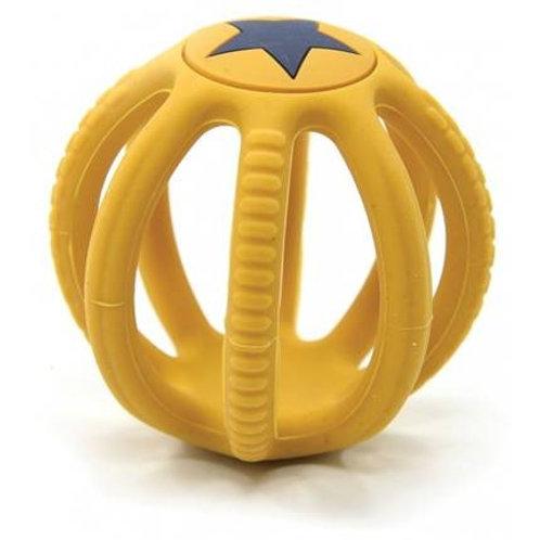 Balle dentition en silicone – jaune