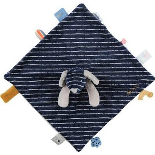 Tidou Jack en Veloudoux® bleu à rayures de la collection Aston & Jack