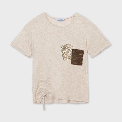 T-shirt poche paillette