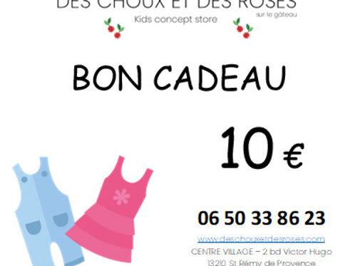 Bon Cadeau 10€ liste de naissance