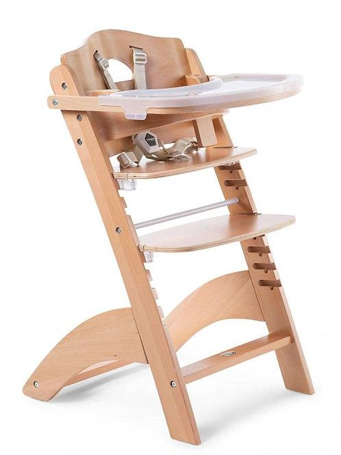 LAMBDA 3 chaise haute bébé + tablette - bois – naturel