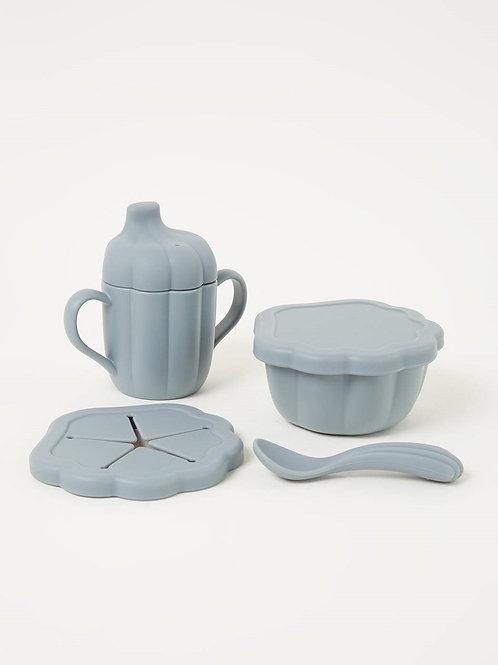 Set vaisselle en silicone Clam - Set de 4 KONGES SLOJD