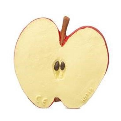 OLI & CAROL Jouet de dentition - Latex d'hevea 100% naturel, Wally la Pomme